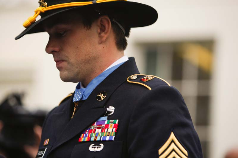 President Obama Awarding The Medal Of Honor To Staff Sergeant