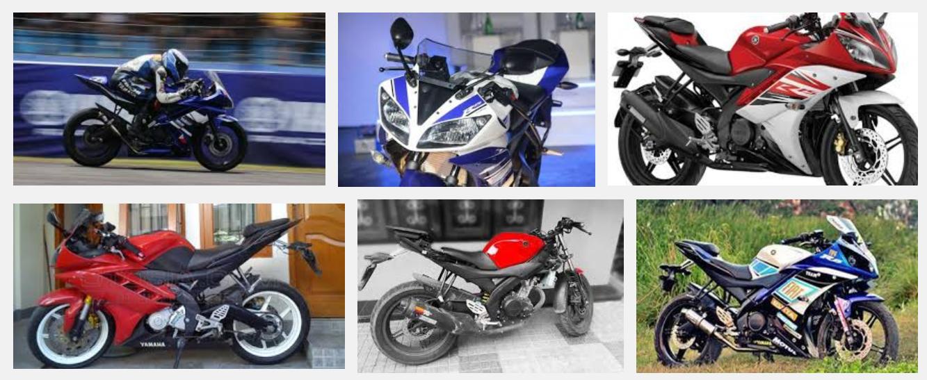 Foto Gambar Modifikasi Motor Yamaha R15 Warna Merah Putih