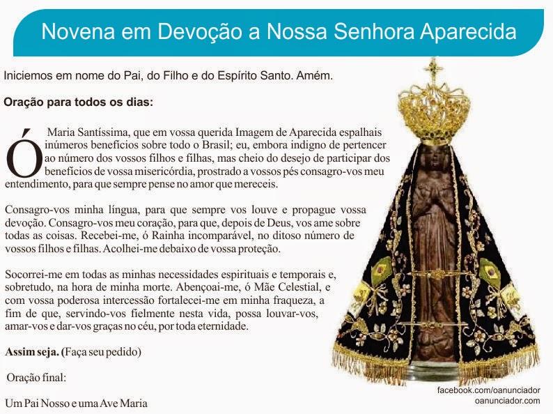 """Mensagem De Nossa Senhora Aparecida Para O Dia 12 De: """"SEMEADORES DA PALAVRA DE DEUS""""-Catequista Marisa"""