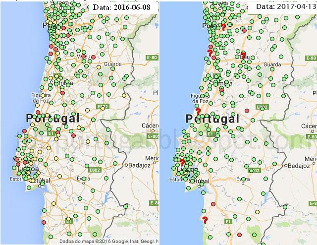 mapa tdt portugal TDT   Televisão Digital Terrestre em Portugal mapa tdt portugal