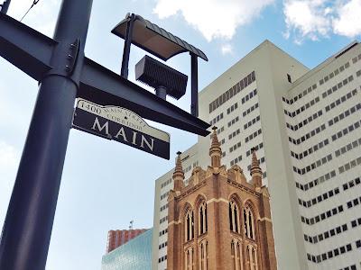 First Methodist Church seen from Main Street