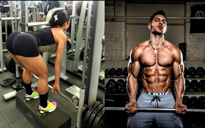 Músculos definidos masa muscular hombre mujer