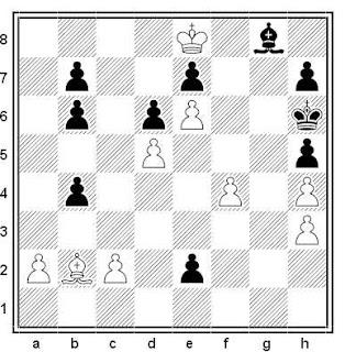 Estudio artístico de V. Halberstadt (1ª Mención de Honor, Schachmaty 1928)