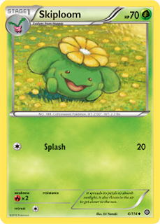 Skiploom Steam Siege Pokemon Card