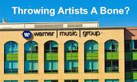 WMG throwing artists a bone image