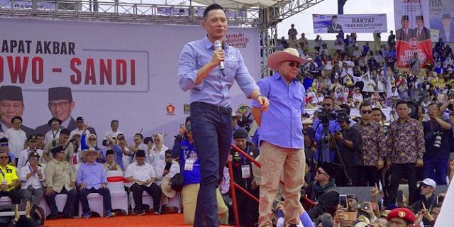 Kampanye Pertama AHY Buat Prabowo