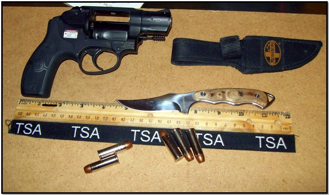 This loaded firearm and knife were discovered in a carry-on bag at Myrtle Beach (MYR).