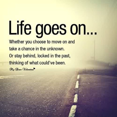 Quotes that bring happiness: life goes on.