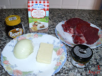 Ingredientes para el solomillo en salsa de pimienta