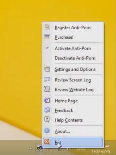 تفعيل برنامح حجب المواقع الاباحية Anti-porn
