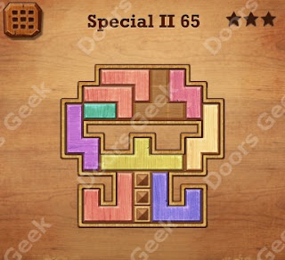 Cheats, Solutions, Walkthrough for Wood Block Puzzle Special II Level 65