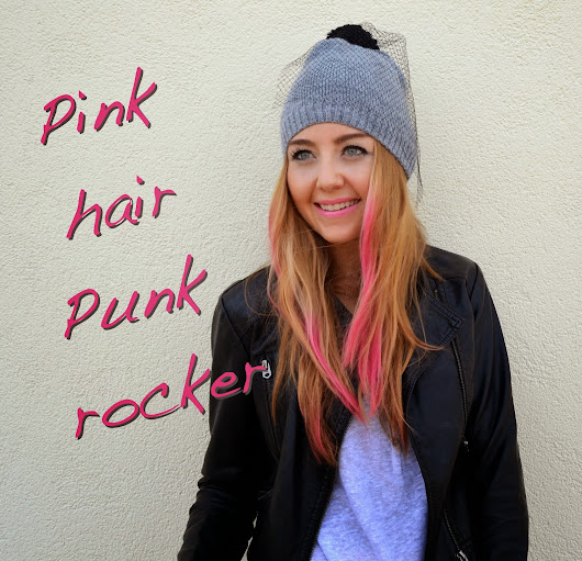 Pink hair punk rocker