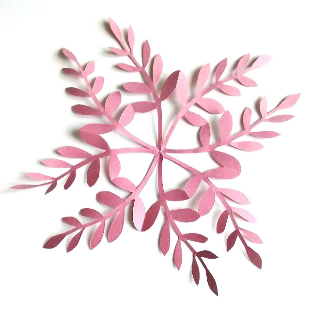 Leafy Paper Snowflakes tutorial step 7