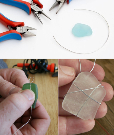 How to Wire Wrap Seaglass Pieces