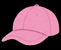 野球帽のイラスト(ピンク)