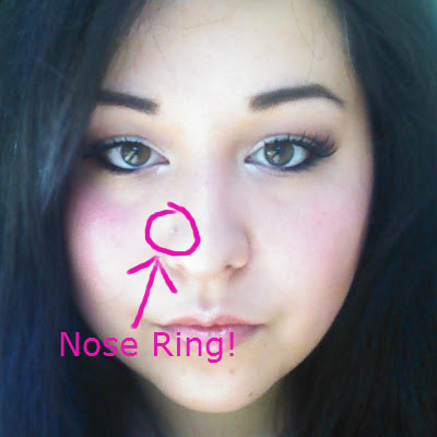 how to draw nose peircing