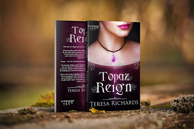 Book cover of Topaz Reign, a twisted fairy tale