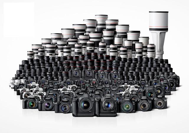 Fotocamere e ottiche del sistema fotografico Canon EOS