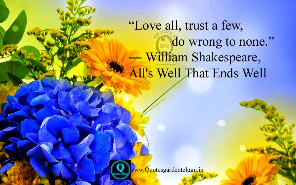 Best inspirational quotes about life and love-William Shakespere Quotes about love