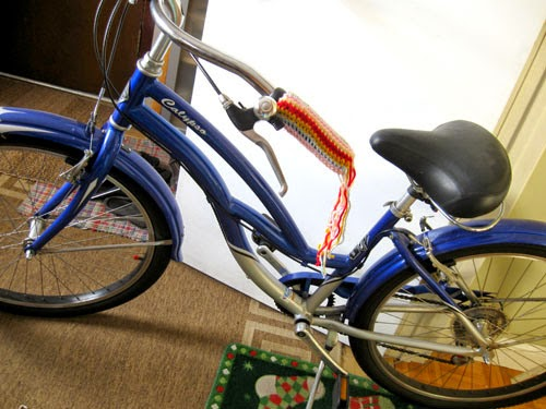 manillar, bicicleta, tunear, personalizar, crochet, labores, tejer