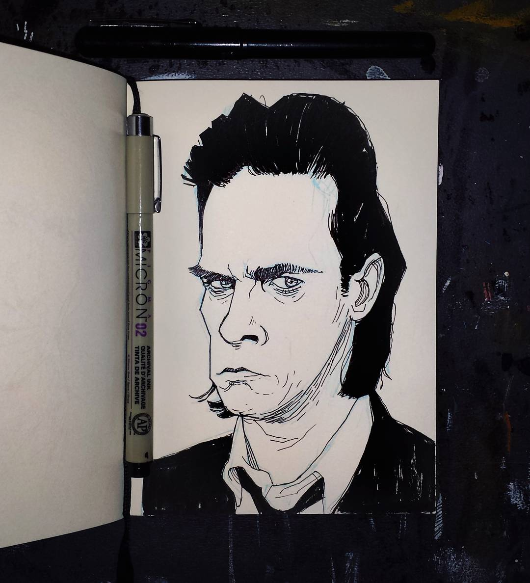 Nick Cave portrait illustration