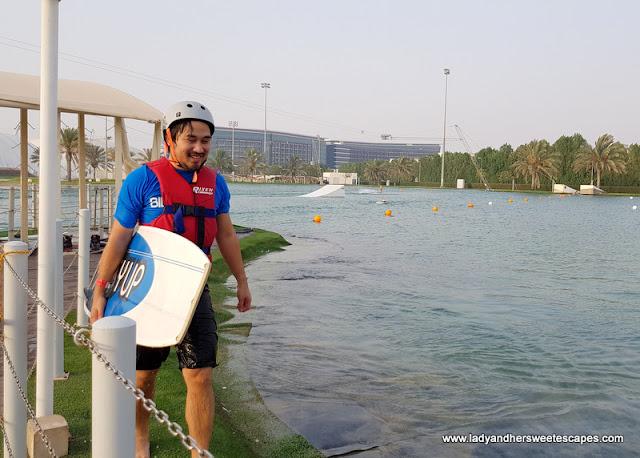 wakeboarding at Al Forsan