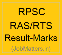 image : RPSC RAS/RTS Exam Result Cut-off Marks @ JobMatters