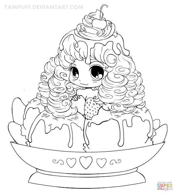 Chibi Ice Cream Girl
