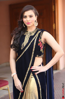 Priyanka Ramana in Beautiful Designer Black Saree At We Craft Elegance Expo Launch 067.JPG
