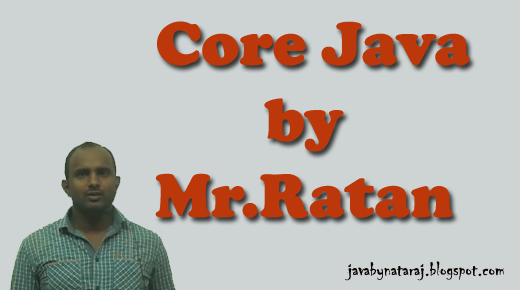Core Java notes by Mr Ratan from Durgasoft | JAVAbyNATARAJ