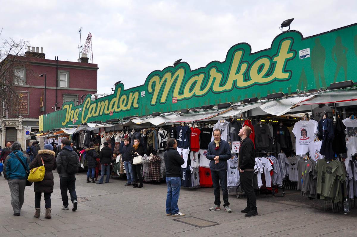 The Camden Market, Camden Town, London, England