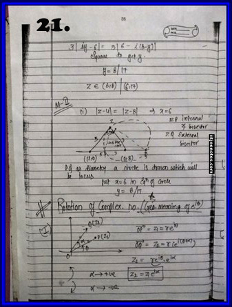 iitjee notes on complex number 21