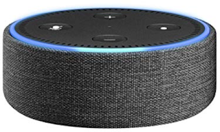 Amazon Echo Dot with decorative case (photo from Amazon.com)