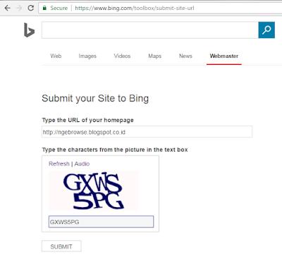 BING Submit URL