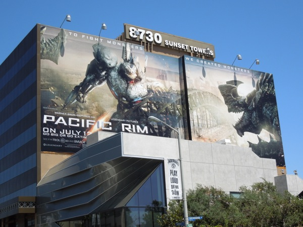 Pacific Rim movie billboard sunset strip