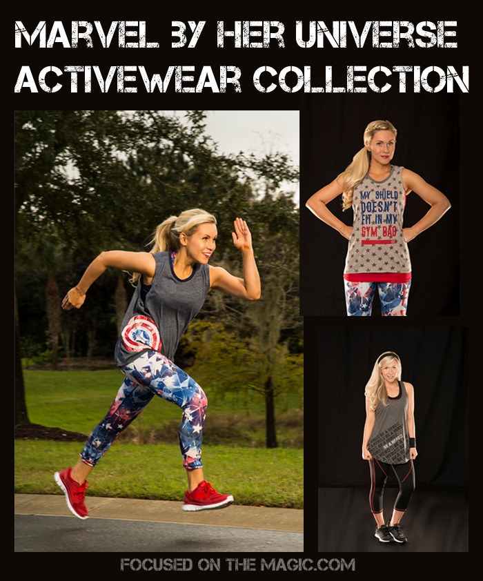 "Marvel Super Hero makeover for women's activewear via a new collaboration with fangirl fashion company, Her Universe. The stylish line for teens and millennial women is inspired by the forthcoming movie Marvel's Captain America: Civil War and will launch this month at Kohl's stores and Kohls.com.   The capsule collection featuring looks based on Black Widow, Iron Man and Captain America will be tagged ""Be A Hero"""
