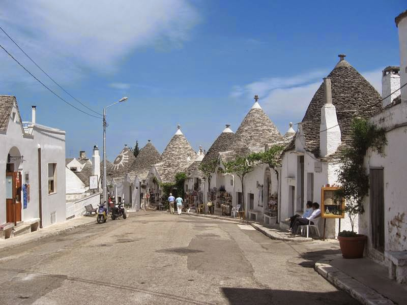 Trulli, The traditional dwellings in Alberobello, Italy