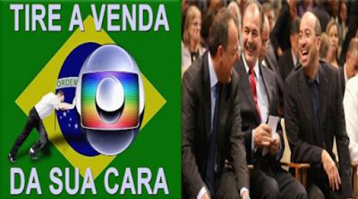 Sérgio Cabral, Aluizio Mercadante e José Roberto Marinho