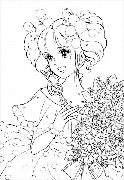 Coloring Pages For Adults Only   Girl Coloring Pages Animegirl