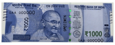 Rs. 1000 New Note Pics