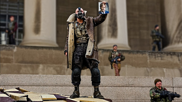 Tom Hardy as Bane in the superhero film 'The Dark Knight Rises' (2012)