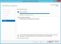 installation succeeded - .NET framework 3.5 windows server 2012