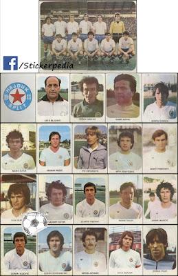 Hajduk Split album sličice Fudbaleri i Timovi 1980/81