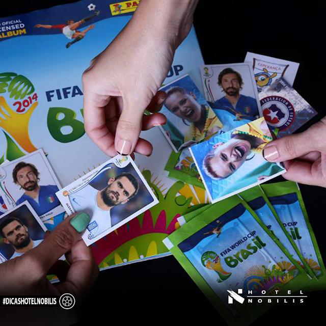 10 espaços de troca de figurinhas para completar o álbum da Copa