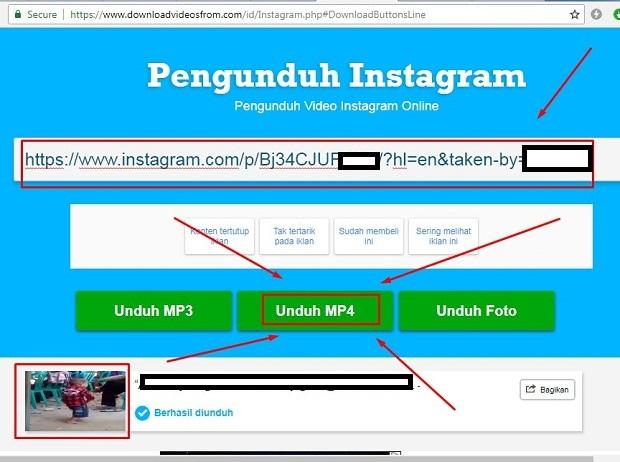 Caria Download Video di Instagram Tanpa Aplikasi Lewat Downloadvideosfrom.com 2019 i