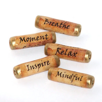 Mindfulness paper beads