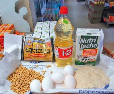 Aceite, frijol, arroz, huevo