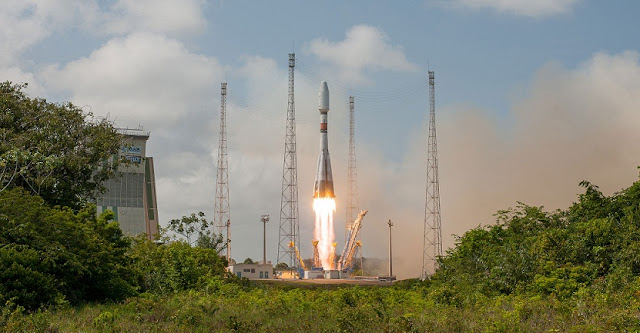 Arianespace closed out its 2018 launch activity with a Soyuz launch at the service of French institutions. Flight VS20. CSO-1. Credit: Arianespace
