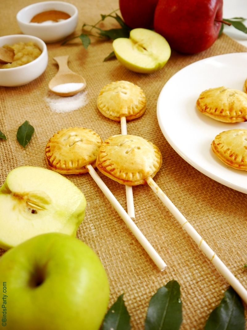 Party Food | Apple & Cinnamon Pie Pops Recipe - BirdsParty.com