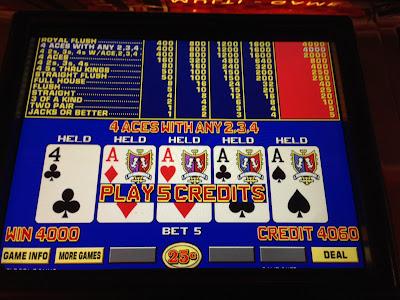 Four Pointies with Kicker Dealt on Triple Double Bonus